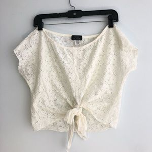 Floral race cropped top